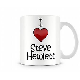 Amo la tazza stampata Steve Hewlett