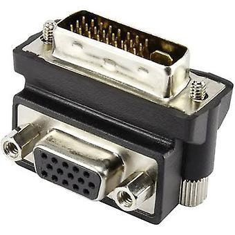 DVI/VGAAdapter [29 ピン DVI プラグ - 1 x VGA ソケット x 1] 90 ° 角度 BlackRenkforce