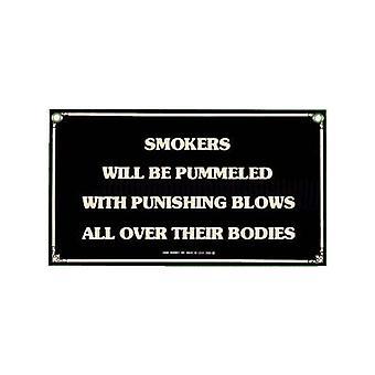Pummelled Smokers Steel Fridge Magnet