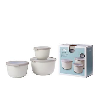 Rosti Mepal Cirqula Multi Bowl 3 Piece Set Large, Nordic White