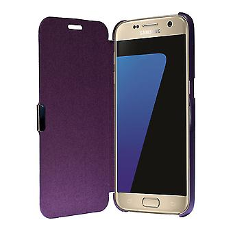 Flip Cover Schutzhülle Case Handyhülle Bookstyle für Samsung Galaxy S7 Edge Violett