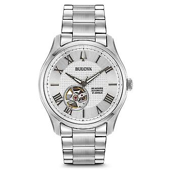 Bulova Mens Wilton Automatic Stainless Steel Silver 96A207 Watch