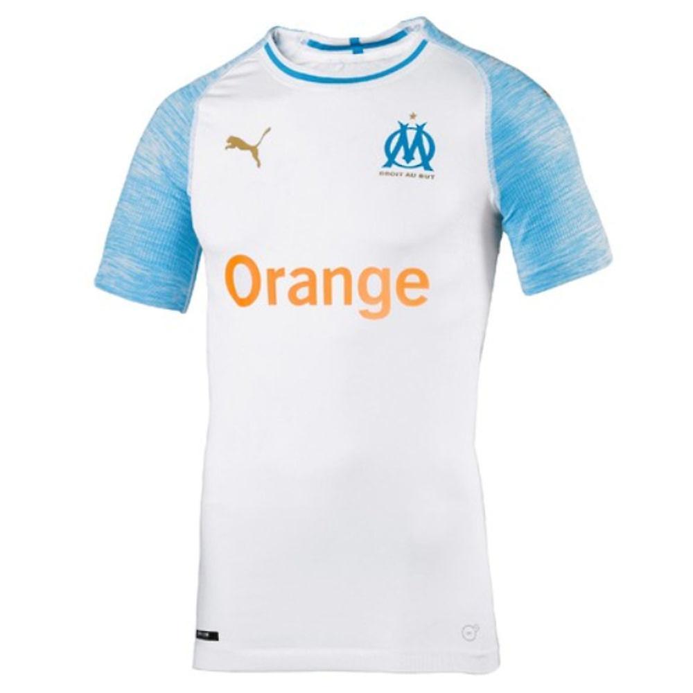 2018-2019 Olympique Marseille Puma Home authentiek EvoKNIT voetbalshirt