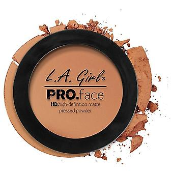 La Girl Pressed Powder PRO HD Mate Warm Caramel (Makeup , Face , Mattifying powders)