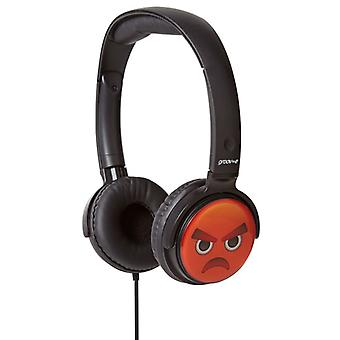 Groov-e GVEMJ16 EarMOJI's Over The Head Stereo Headphone Emoji - Angry Face