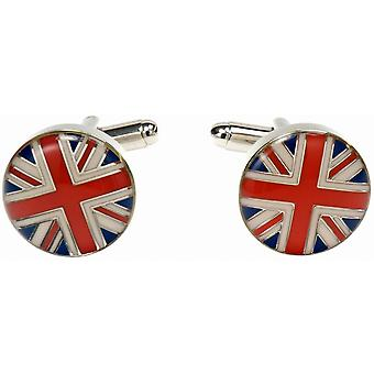 Simon Carter Union Jack Dome Cufflinks - Red/White/Blue