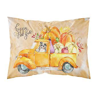 Fall Harvest Australian Shepherd Fabric Standard Pillowcase