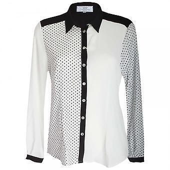 Vlt's By Valentina's Women's Long Sleeve Polka Dot Shirt