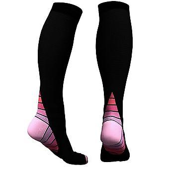 Knee-high compression socks for running & Sport-Pink
