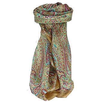 Mulberry Silk Traditional Square Scarf Zorn Gold by Pashmina & Silk