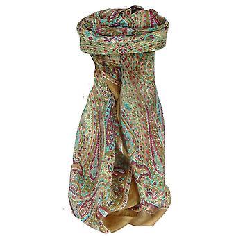Шелковица Шелковый традиционных квадратный шарф Зорна золото пашмины & шелка