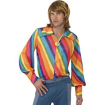 1970s Rainbow Colour Shirt, Chest 38