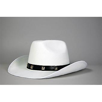 White Felt Cowboy Studded Hat.