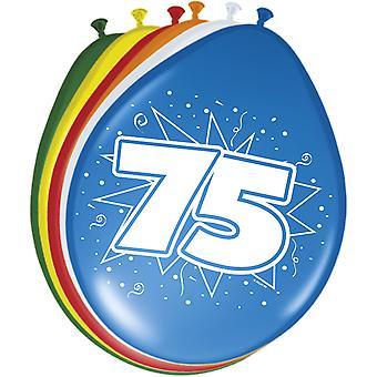 Farverige balloner ballon antal 75 8 St. dekoration balloner fødselsdagsfest
