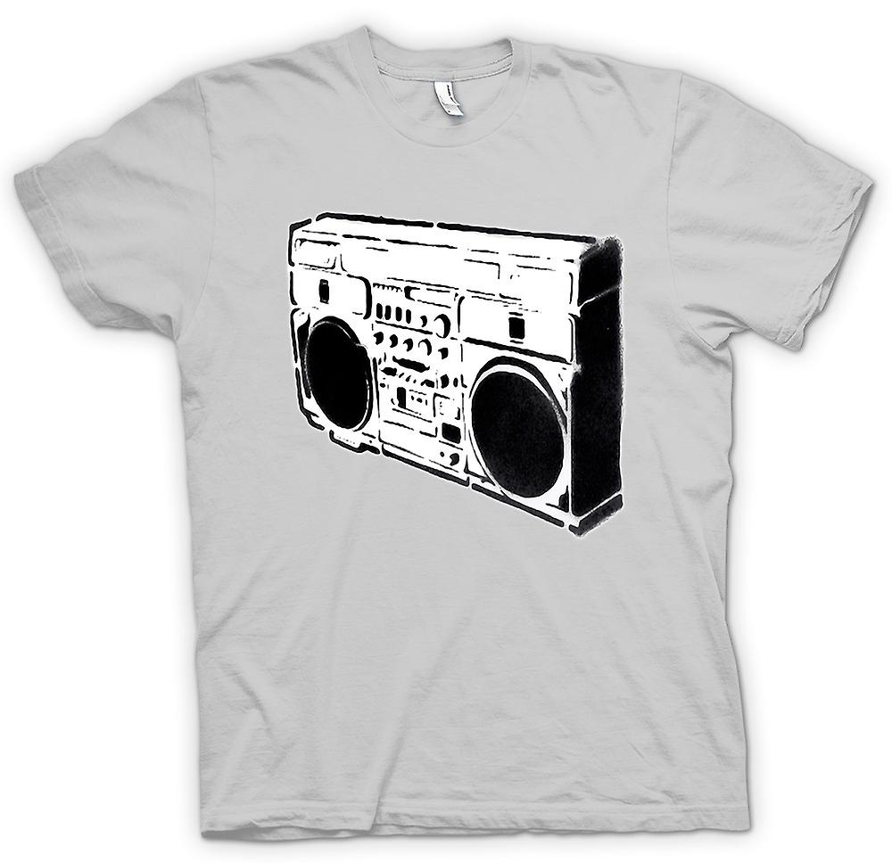 Herr T-shirt - Ghettoblaster Old School - BW