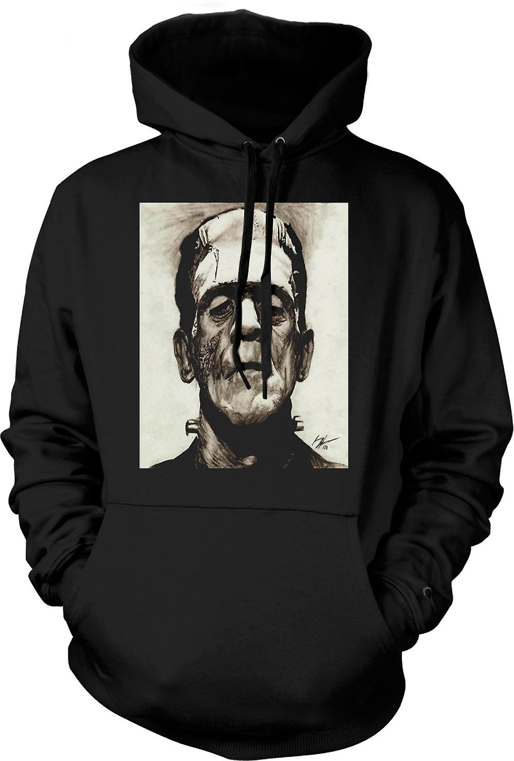 Mens-Hoodie - Frankenstein-Sketch - Horror