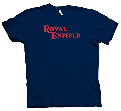 Herr T-shirt - Royal Enfield Logo - klassisk motorcykel