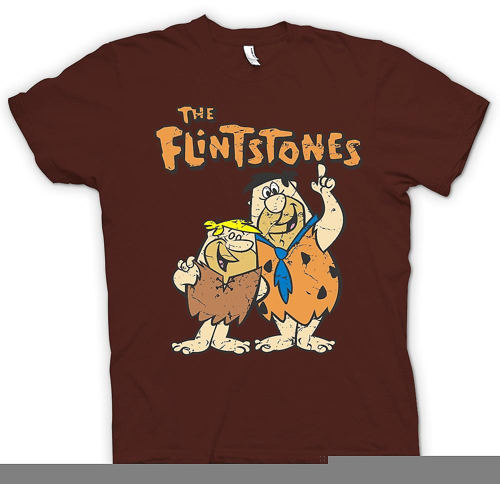 Herr T-shirt-Familjen Flinta - Fred och Barney - Cool Cartoon