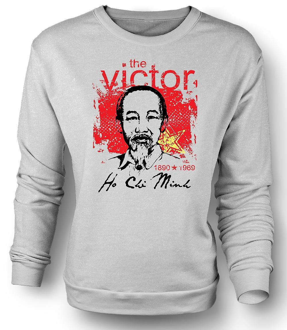 Mens Sweatshirt Ho Chi Minh The Victor - Vietnam - Communism