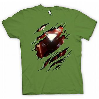 Womens T-shirt - Iron Man 2 Triangle Arc - Superhero Ripped Design