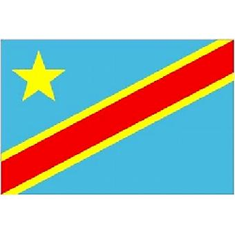Congo-Kinshasa Flag 5ft x 3ft With Eyelets For Hanging