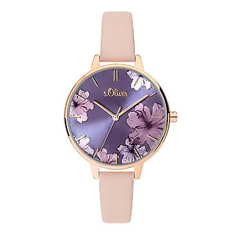 s.Oliver women's watch wristwatch leather SO-3778-LQ