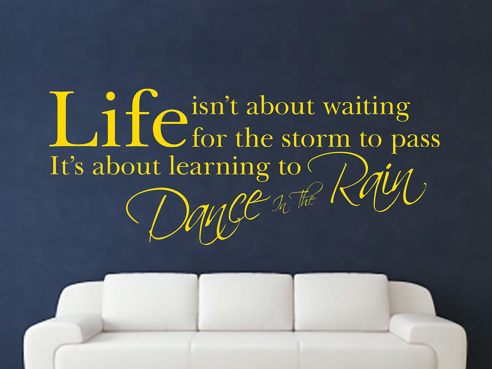 Dance In The Rain Wall Art Sticker - Dark Yellow
