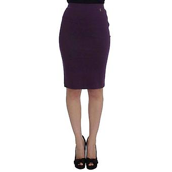Galliano Purple Stretch Pencil Skirt -- SIG3248901