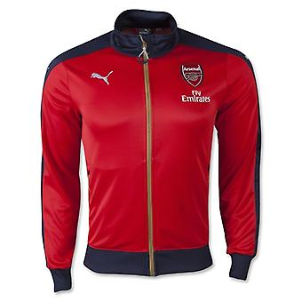 2015-2016 Arsenal Puma Stadium Jacket (Red)