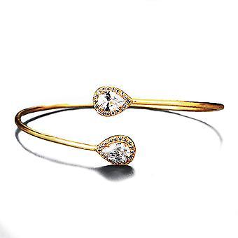 Dazzling Gold Teardrop Detail Bracelet