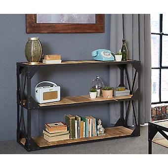 Milano Industrial Metal & Wood Console Table/Tv Stand/Low Bookcase