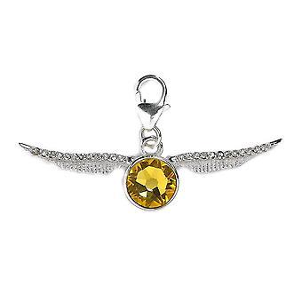 Harry Potter Swarovski krystaller Golden tyster klipp på Charm