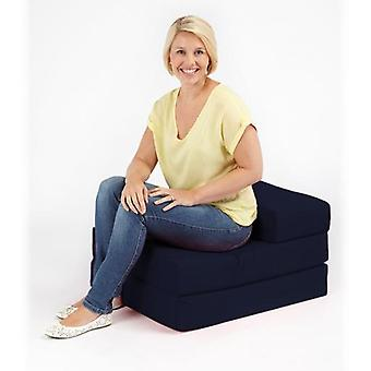 Twill de algodón plegable sofá cama de un solo Z-Navy