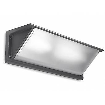 1 Light Outdoor Large Wall Light Grey Ip65