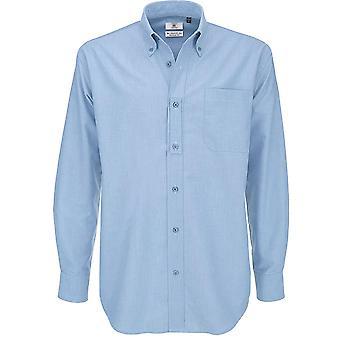 B&C Collection - B&C Oxford Long Sleeve - Work Business Shirt Mens