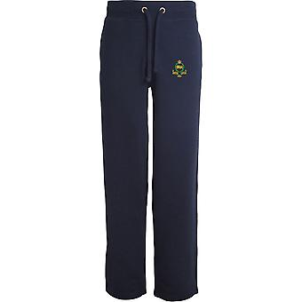 Kings Own Royal Border Regiment - Licensed British Army Embroidered Open Hem Sweatpants / Jogging Bottoms