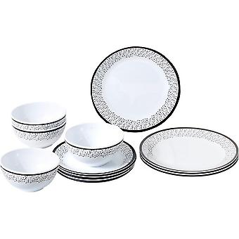Brunner Pralin 12 Piece Midday Melamine Tableware Set