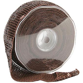 Carrés paillettes garniture 40 Mm X 15,95 verges Brown 9801 40 56