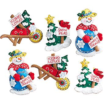 Snow Garden Ornaments Felt Applique Kit-4
