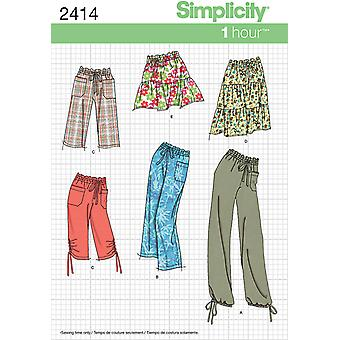 Simplicity Misses Skirts Pants 8 10 12 14 16 U02414k5