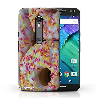 STUFF4 Case/Cover for Motorola Moto X Style/White Glazed/Tasty Donuts