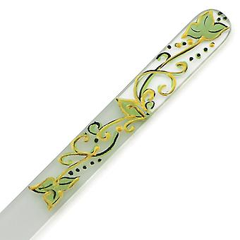 Handpainting Glass nail file yellow 303-GM6