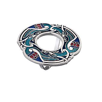 Celtic Birds Enamel Scarf Ring - Gift Boxed