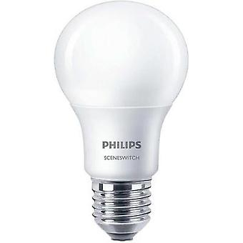 LED E27 Arbitrary 8 W = 60 W Warm white (Ø x L) 61 mm x 107 mm EEC: A+ Philips Lighting dimmable 1 pc(s)