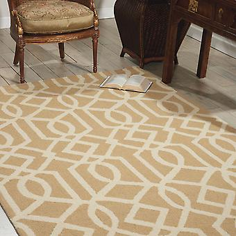 Lineare Teppiche Lin05 In Sand und Elfenbein