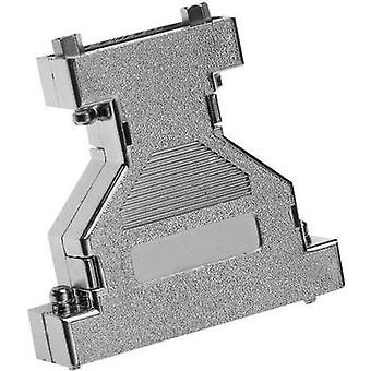 D-SUB adapter housing Number of pins: 9, 15 Plastic, metallised 180 ° Silver Provertha 670915M 1 pc(s)