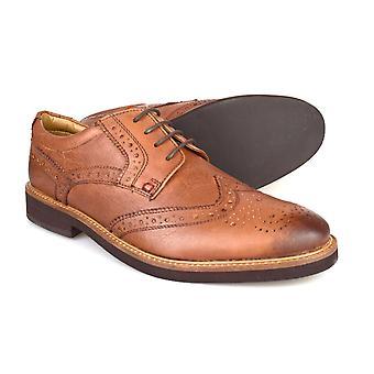 Silver Street London Berkley Mens Tan Leather Formal Brogues
