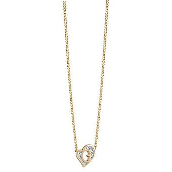 Guess ladies chain necklace stainless steel gold heart UBN71537