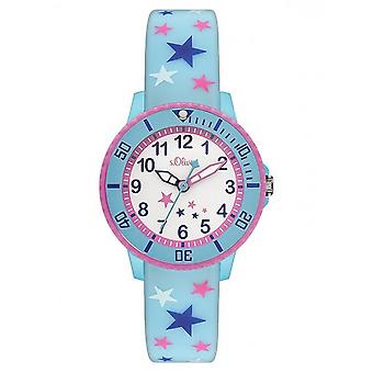 s.Oliver silicone band watch kids SO-3179-PQ