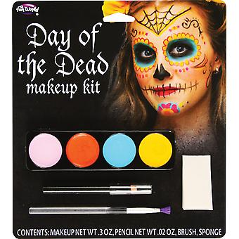 Sugar Skull Day Of The Dead Mexican Senorita Ghost Women Costume Makeup Kit